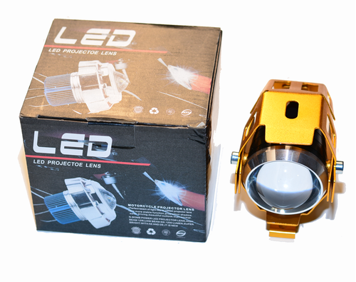 Transformer Front LED (GOLD)Headlight 12v-24v for 1600/1800/2000w Scooters