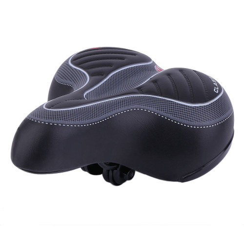 Extra Wide Gel Cushioned Scooter Seat Soft Padded (Black)