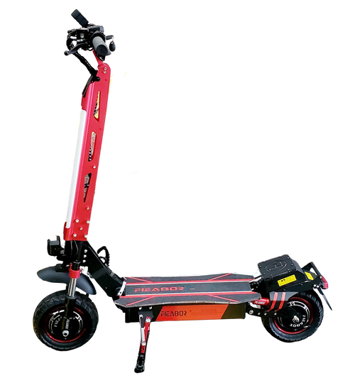 NEW! 2021 FIEBOR 2400W (1200W*2) 52V 21A Electric Scooter Lithium Battery Electric Scooter (Red)****FREE SHIPPING USA****