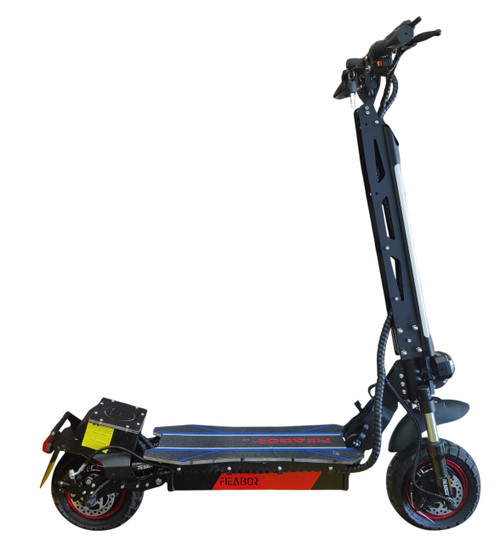 NEW! 2021 FIEBOR 2400W (1200W*2) 52V 21A Electric Scooter Lithium Battery Electric Scooter (Black)****FREE SHIPPING USA****
