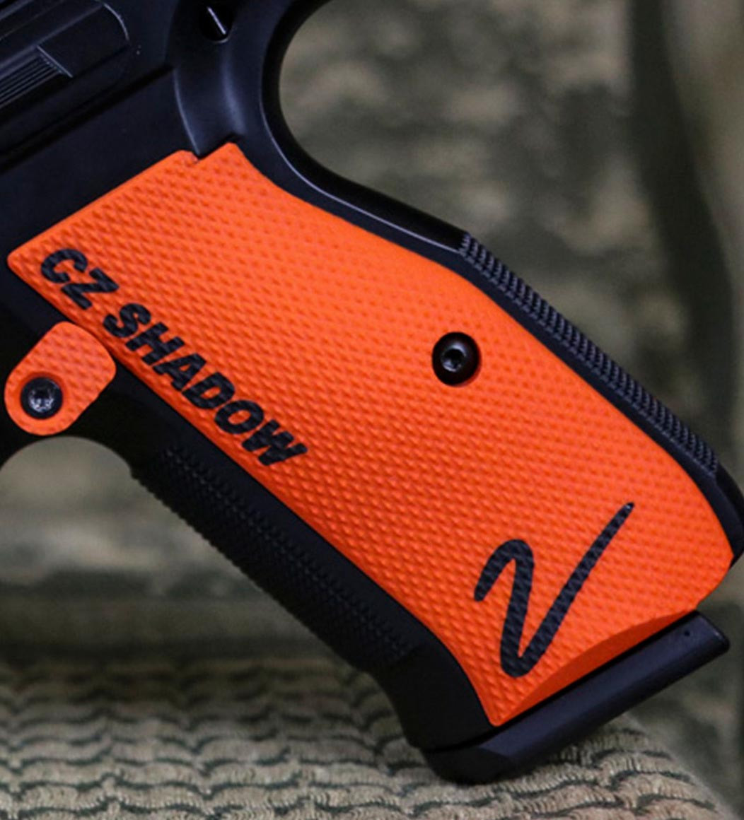 CZ Shadow 2 Palm Swell Checkered- Color-Fill Engraved