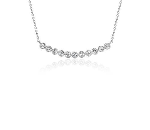 Milgrain Smile Necklace