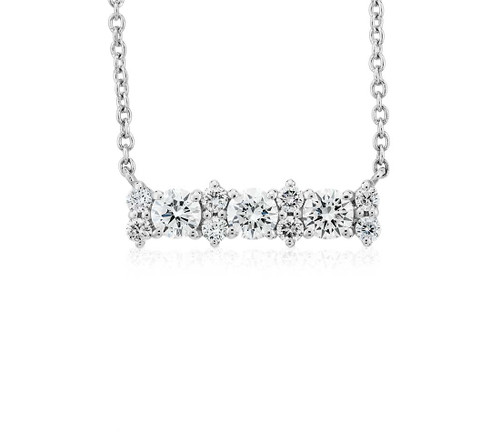 Delicate Diamond Bar Necklace