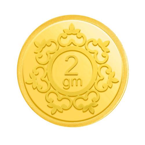 2 GRAMS 24K (999) YELLOW GOLD PRECIOUS COIN