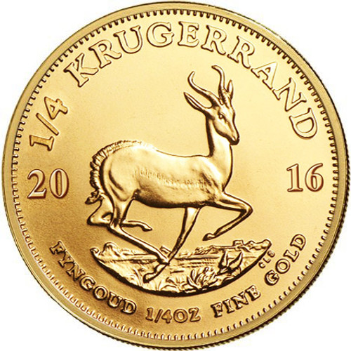 1/4 oz South African Gold Krugerrand Coin