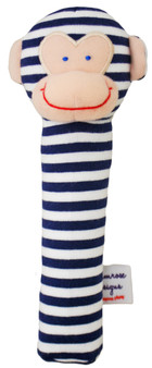 Monkey Squeaker - Navy Stripe