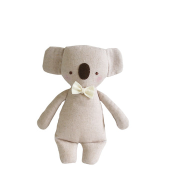 Linen Mini Rattle 18cm Koala