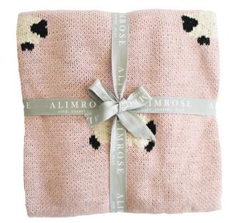 Baa Baa Blanket Organic Cotton - Pink 100cm x 70cm