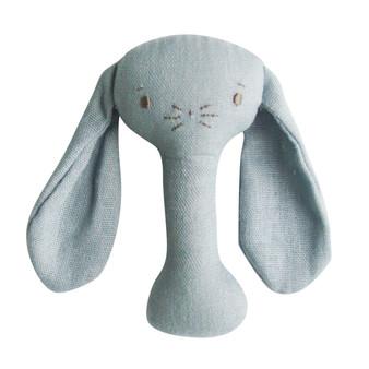 Bobby Bunny Stick Rattle Grey Linen