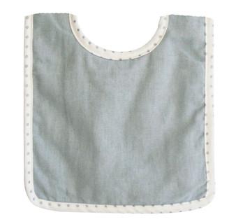 Bobby Bib Grey Linen