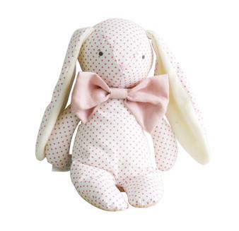 Roberta Floppy Bunny - 25cm Spot Pink & Bowtie