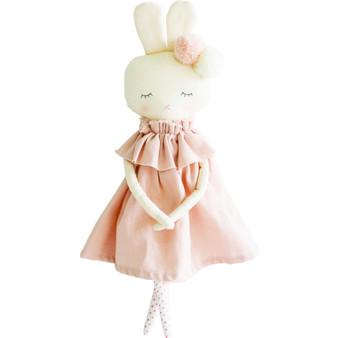 Isabelle Bunny 40cm Pink Linen