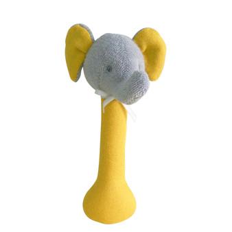 Elephant Stick Rattle Linen Butterscotch