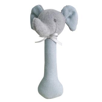 Elephant Stick Rattle Linen Grey