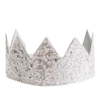 Sequin Sparkle Crown - Silver
