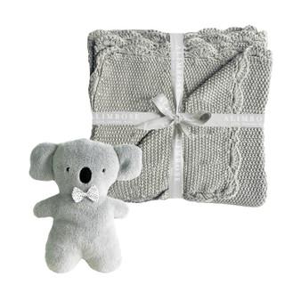 Organic Little Koala Blanket Set - Grey