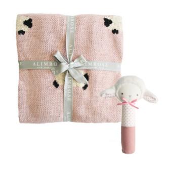 Little Baa Baa Blanket Set - Pink