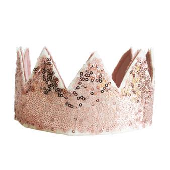 Sequin Sparkle Crown - Rose Gold