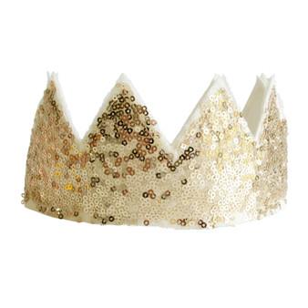 Sequin Sparkle Crown - Gold