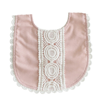 Olivia Bib Pink Linen