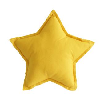 Linen Star Pillow 40cm Butterscotch