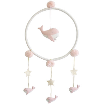 Whimsy Whale Mobile Pink