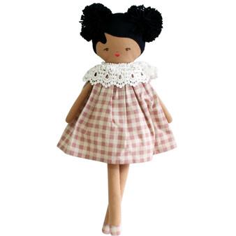 Aggie Doll 45cm Rose Check