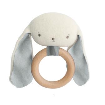Baby Bunny Teether Rattle Grey