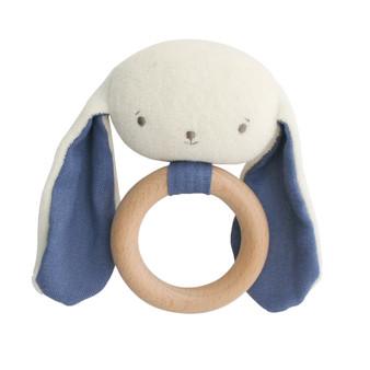 Baby Bunny Teether Rattle Chambray
