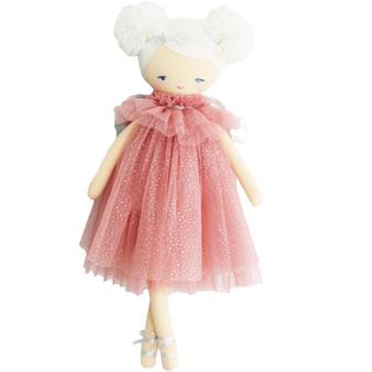 Ava Angel Doll 48cm Blush Silver
