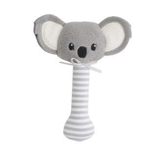 Baby Koala Stick Rattle Grey