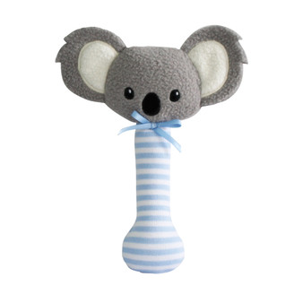 Baby Koala Stick Rattle Blue