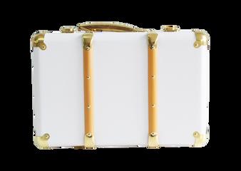 Mini Vintage Brief Case - White