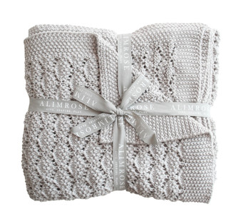Organic Heritage Knit Baby Blanket - Cloud