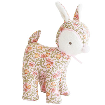 Baby Deer Rattle 16cm Blossom Lily Pink