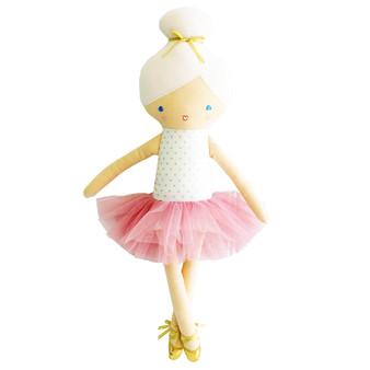 Betty Ballerina 43cm Silver Blush