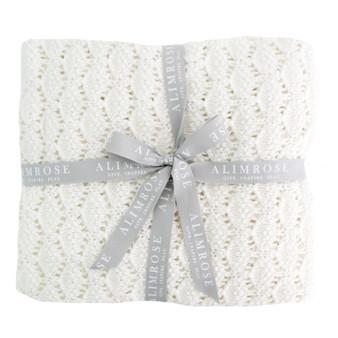 Organic Heritage Knit Baby Blanket - Ivory