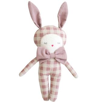 Dream Bunny 20cm Rose Check Linen