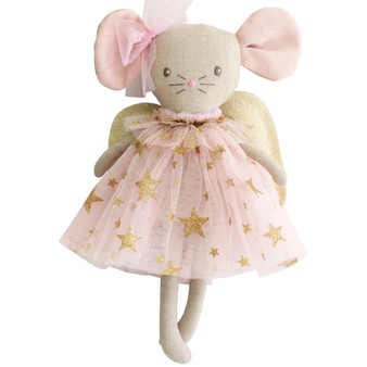 Mini Angel Mouse 25cm Gold Star Pink