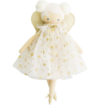 Lily Fairy 48cm Ivory Gold Star