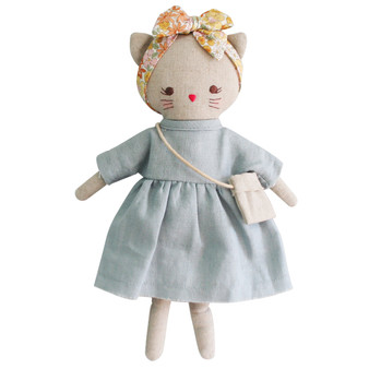 Mini Lilly Kitty 26cm Grey Linen