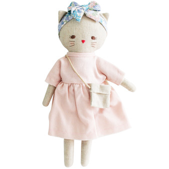 Mini Lilly Kitty 26cm Pink Linen