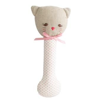 Kitty Stick Rattle Spot Pink