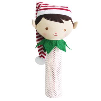 Cheeky Elf Squeaker/Rattle Green