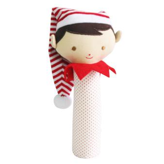 Cheeky Elf Squeaker/Rattle Red