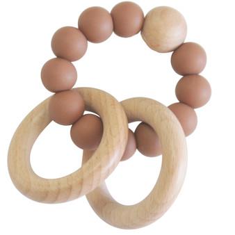 Beechwood Teether Ring Set - Cinnamon