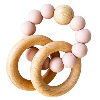 Beechwood Teether Ring Set - Petal