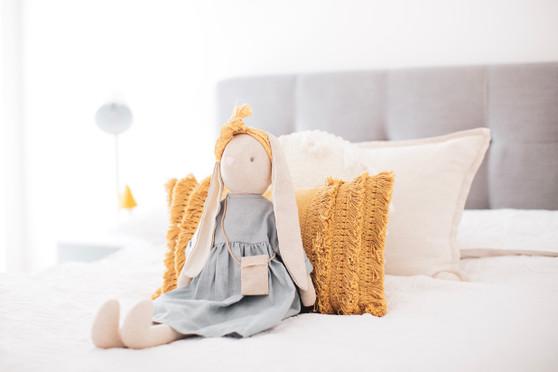 Sofia Bunny 70cm Grey Linen