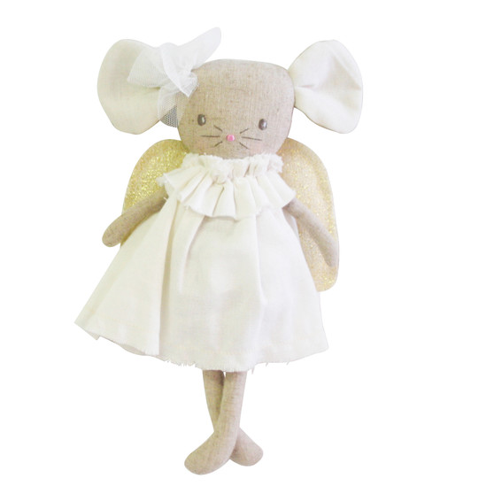 Angel Baby Mouse 25cm Ivory Gold