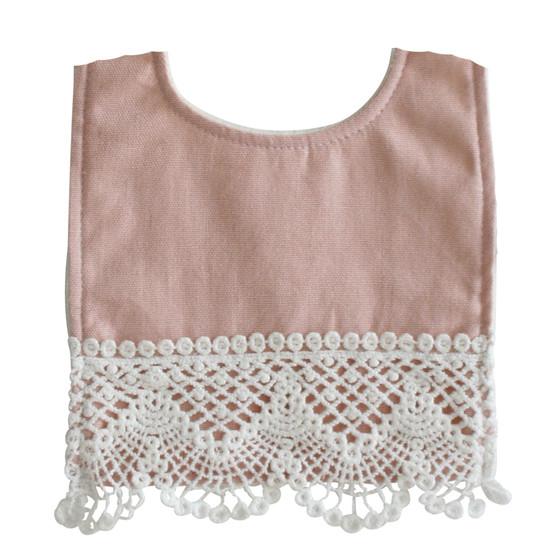 Erin Bib Pink Linen